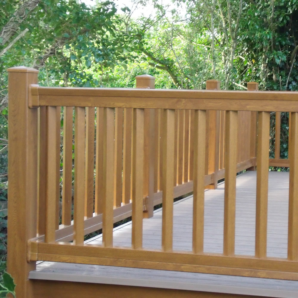 Foiled Upvc Balustrades Kits World Of Decking