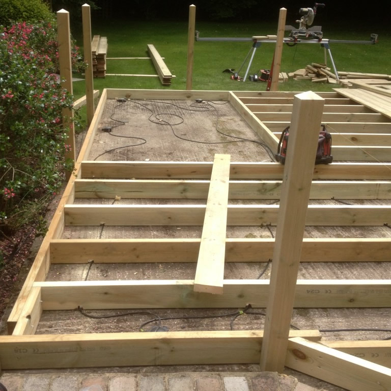 Timber Subframe Joists World Of Decking