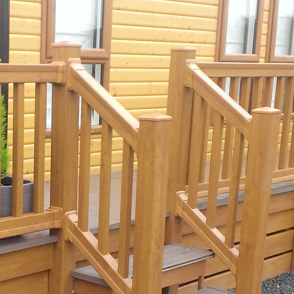 Step Handrail: Foiled UPVC Sculptured Step Bracket