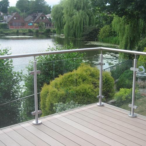 Toughened glass clear panel world of decking for Garden decking glass panels