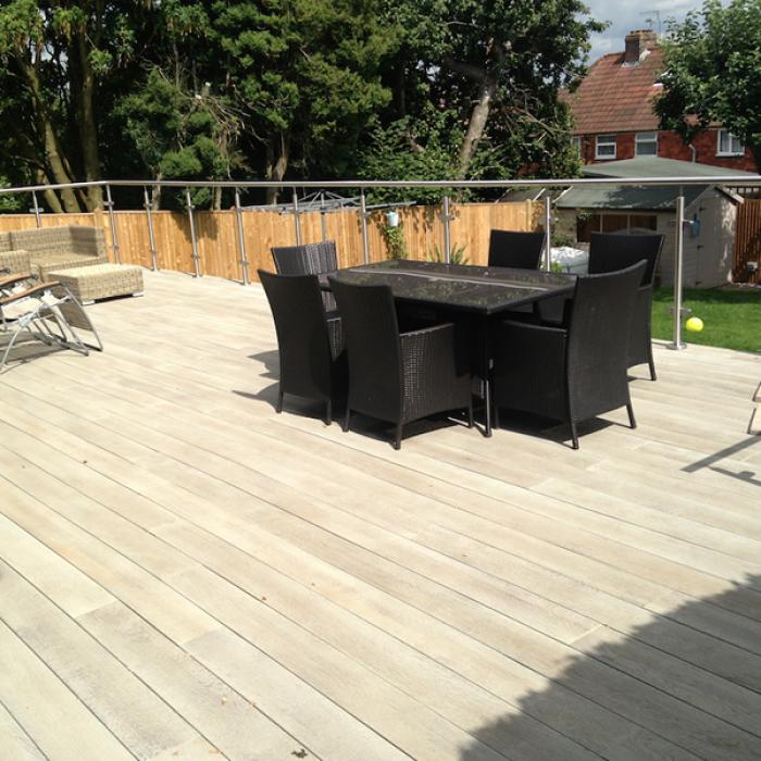 Millboard Enhanced Grain Limed Oak Deck Boards World Of