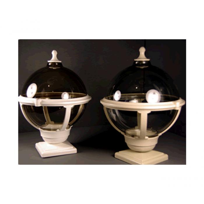 Globe Style Balustrade Lamp World Of Decking