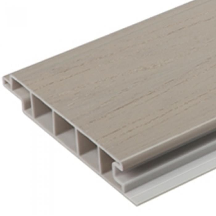 Upvc premium deck board light grey world of decking for Cheap decking boards uk